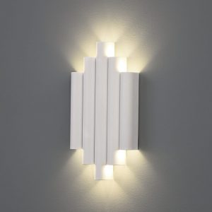 robin aplique pared Blanco