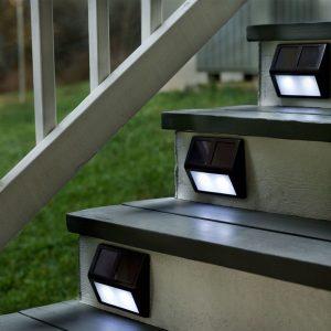 Lampara solar exterior escalera