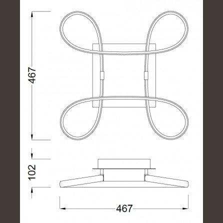 knot led 2 plafon