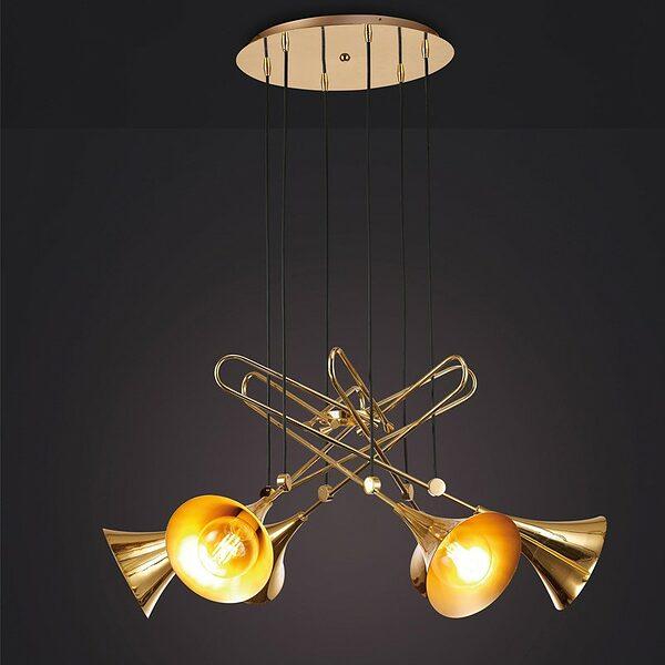Jazz-6-trompetas-lampara-de-techo-vintage