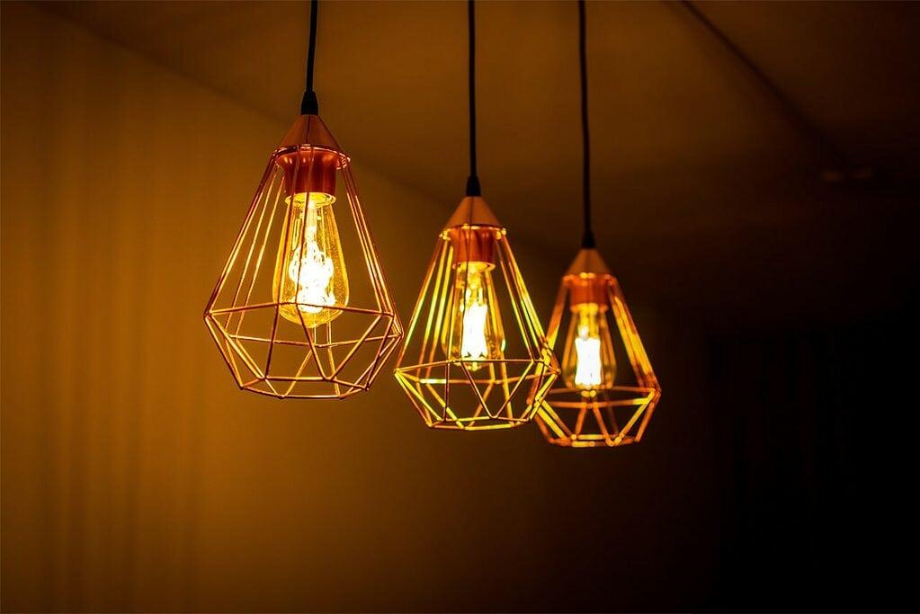 Iluminación cálida vintage
