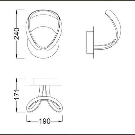 knot led aplique