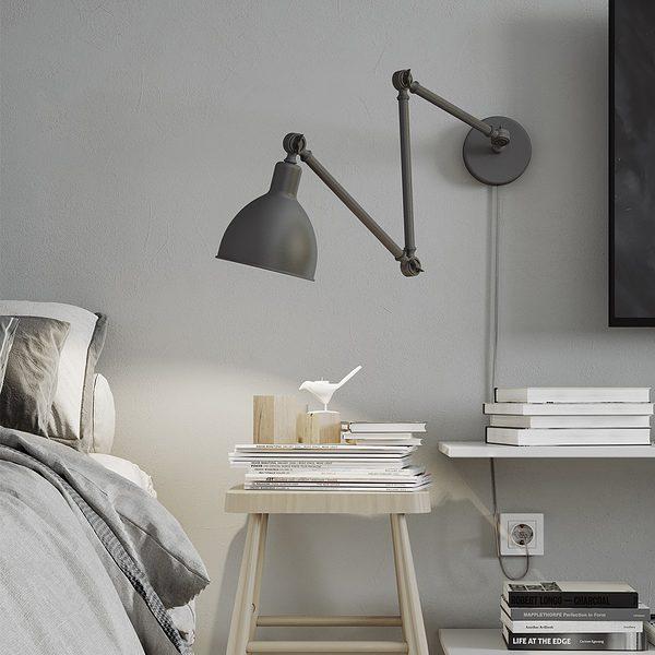 Bazar aplique de pared byrydens gris